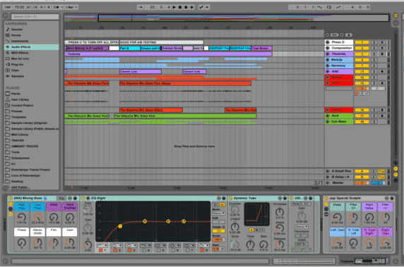 Mixdown toolset live template